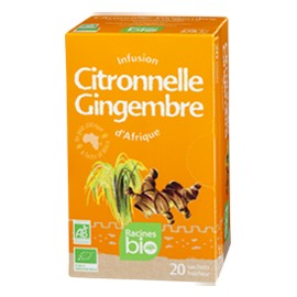 Infusion Citronnelle - Gingembre - RACINES BIO